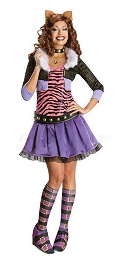 Secret Wishes Monster High Deluxe Adult Clawdeen Wolf Costume, Multi, Large Best Halloween Costumes & Dresses USA Costumes Monster High, Monster High Halloween, Fantasia Monster High, Festa Monster High, Cool Costumes, Adult Costumes, Costumes For Women, Cartoon Costumes, Buy Costumes