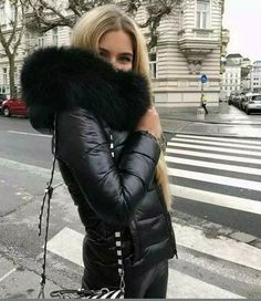dbf1044c Zara genuine back shiny quilted puffer down jacket FAUX FUR HOOD SIZE L UK  12 #