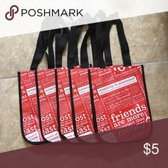 Set of 5 Lululemon reusable shoppers Classic manifesto red shoppers set of 5 lululemon athletica Bags
