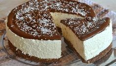 nutella & coconut cheesecake: recipe without baking. No Bake Desserts, Delicious Desserts, Dessert Recipes, Coconut Cheesecake, Cheesecake Recipes, No Bake Nutella Cheesecake, Nutella Creme, Kolaci I Torte, Cooking Cake