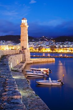 Lighthouse at old Venetian harbour Rethymno (Rethymnon) Crete Greek Islands Greece Europe Crete Island, Greece Islands, Crete Rethymnon, Places To Travel, Places To See, Crete Holiday, Greek Isles, Crete Greece, Greece Travel