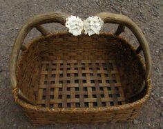 Handmade Reed Basket with Antler Spirit Carving Antler Handle OOAK Newspaper   eBay DNA wood, antler and reed art work.