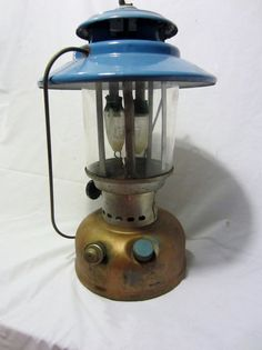 1971 Coleman Lantern for Sears Roebuck Model 72217  Cottage Chic, Rustic Vintage Antique Camping Lantern Light Coleman Patio rustic patina unique model Sears Roebuck metal gas copper tin brass light vintage blue camp