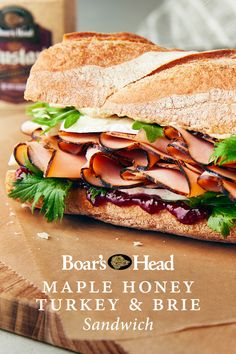 Brie Sandwich, Sandwich Recipes, Lunch Recipes, Great Recipes, Cooking Recipes, My Favorite Food, Favorite Recipes, Rustic Wreaths, Honey Ham