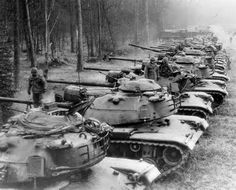 M-60 Patton's on maneuvers in West Germany.