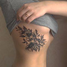 tattoo, flowers