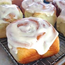 Feed a crowd... this makes 2 9x 13 pans....Big-Batch Frosted Cinnamon Rolls: King Arthur Flour