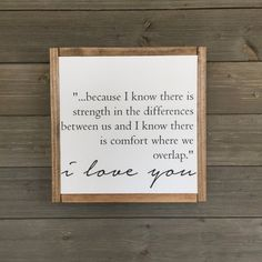 13 x 13 wood sign with frame. White background with black lettering. Comes ready to hang with hardware and felt dots. Sign Quotes, Words Quotes, True Quotes, Wooden Signs With Sayings, Modern Farmhouse Decor, Farmhouse Signs, Sweet Quotes, Sweet Sayings, What Day Is It