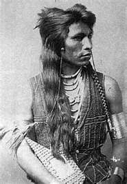 """""""Rabbit Tail"""" Tab-Boon-Gicash was a Shoshone Indian Scout for Captain Ryan´s company. Captain John M. Ryan was a 7th Cavalry survivor of the Battle of Little Bighorn."""