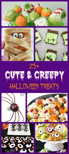 23+ Cute & Creepy Halloween Treats - Such a fun roundup of festive desserts perfect for parties! Easy recipes, simple treats from Butter With A Side of Bread