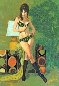 robert mcginnis pin-up Robert Mcginnis, Arte Do Pulp Fiction, Skottie Young, Pulp Art, Figure Painting, Woman Painting, American Artists, Pin Up Girls, Vintage Art
