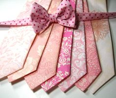 I cannot help it!  I love these ties! Pink Neckties Neckties Mens Neckties Cotton by tuxandtulle on Etsy, $24.00