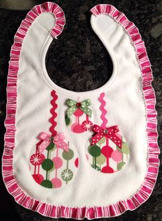 Christmas Bib on Etsy, $10.00