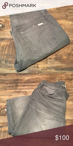 Joe's Jeans Gray Faded Wash Size 34 Good condition! Only selling because they no longer fit my fiancé. Joe's Jeans Jeans Bootcut
