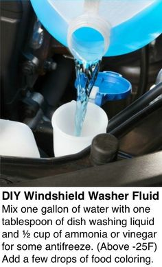 Trying this *right* now!! DIY Windshield Washer Fluid