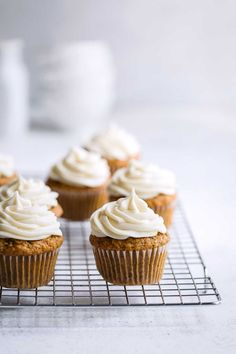 Get the best cakes and cupcakes from Savory Simple. Recipes include Sour Cream Coffee Cake, Rum Cake, and Carrot Cupcakes! Carrot Cupcake Recipe, Carrot Cake Cupcakes, Cupcake Recipes, Cupcake Cakes, Dessert Recipes, Desserts, Bakery Recipes, Mini Cupcakes, Cupcakes With Cream Cheese Frosting