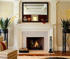 Neutral Beauty Fireplace Tile Ideas Contemporarylivingrooms