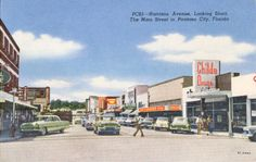 Harrison Avenue, Downtown Panama City, FL - 1955.