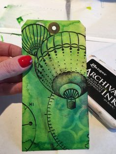 Art journal tutorial from Marjie Kemper using Paint, Ink, Stencils and More