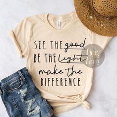 Teacher Shirts, Mom Shirts, Cute Shirts, T Shirts For Women, Jesus Shirts, Funny Shirts, Cute Shirt Designs, Be Light, Christian Shirts