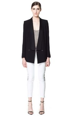 Image 1 of BLAZER WITH COMBINED LAPEL from Zara
