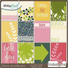 Grow and Bloom Journal Cards :: Gotta Pixel Digital Scrapbook Store by Lindsay Jane $2.00