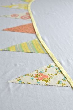 Floral bunting.