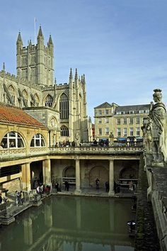 The Roman Baths, Bath, England — by Kathryn Places Around The World, The Places Youll Go, Great Places, Places To See, Beautiful Places, Around The Worlds, Bath Uk, Thinking Day, England And Scotland