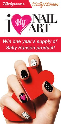 Win a year's supply of Sally Hansen! Click the image to find out more #IHeartMyNailArt