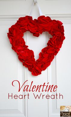 The best Valentine Wreath Ideas - Cick on the image to see tips on How to make a valentine heart shaped wreath in only 6 easy steps (http://nicetipstricks.com/?p=937)