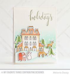 Winter Wonderland, Hand Lettered Holiday, Snow Drifts Die-namics, Winter Wonderland Die-namics - Melania Deasy  #mftstamps
