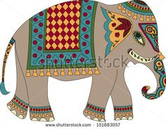 stock-vector-stylized-patterned-elephant-in-indian-style-151883057.jpg (450×350)