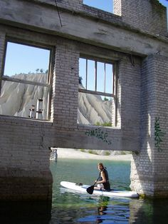 Near the coast of Estonia, you can paddle the abandoned jail known as the Murru prison complex.