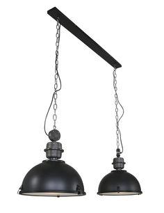 Dubbele industriele hanglamp Steinhauer Bikkel Duo - Directlampen.nl Led Lamp, Ceiling Lights, Lighting, Pendant, Home Decor, Contemporary Lamps, Decoration Home, Room Decor, Hang Tags