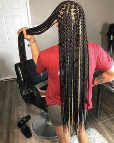 Box Braids Hairstyles For Black Women, Black Girl Braids, African Braids Hairstyles, Braids For Black Hair, Girls Braids, Weave Hairstyles, Protective Hairstyles, Brown Box Braids, Colored Box Braids