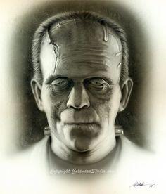 Frankenstein by Michael Calandra. He is an amazing artist!