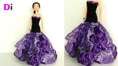 Вечернее платье для Барби с заниженной талией