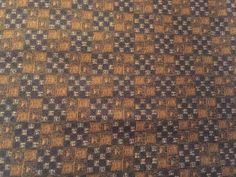 In the Woods Wildlife Theme 100% cotton fabric by the yard Dark Brown checkered #QuiltingTreasures