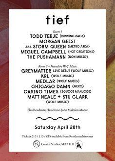tief - Saturday April 28th