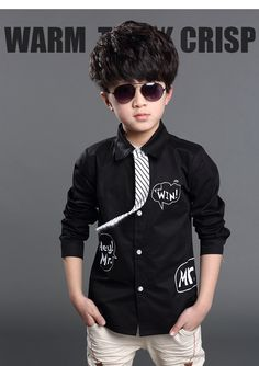 Boys Shirt w/necktie Different Choice of Colors 6Y-7Y