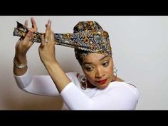 ✿ Afro Scarf & HeadWraps & Make up & Turban & Hat Easy Head Wrap Tutorial Hair Wrap Scarf, Hair Scarf Styles, Turban Tutorial, Hijab Tutorial, Head Wrap Tutorial, Twa Styles, Mode Turban, Turban Hat, Pelo Afro