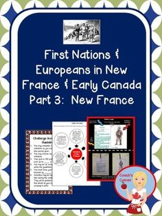 First Nations and Europeans in New France and Early Canada - Part New France. This unit supports the inquiry based 2013 Ontario Social Studies Curriculum! Ontario Curriculum, Social Studies Curriculum, Social Studies Activities, Teaching Social Studies, Teaching Tools, Math Activities, Teaching Resources, Teaching Ideas, Classroom Resources