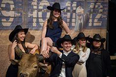 ann whittington events elegant rehearsal dinner southern style country club unique texas entertainment bucking bull rodeo theme photo booth