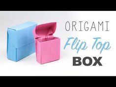Origami Flip Top Box Instructions - Paper Kawaii
