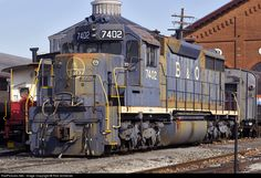 RailPictures.Net Photo: BO 7402 Baltimore & Ohio (B&O) EMD SD35 at Baltimore, Maryland by Rob Schreiner