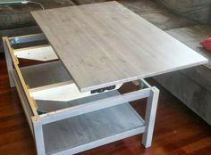Une table basse relevable : Des tables basses faciles à fabriquer - Linternaute