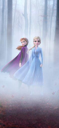 Frozen 2, Queen Elsa and Anna, movie, 2019, 1125x2436 wallpaper