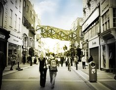 building-to-building-pedestrian-bridge - Hledat Googlem Pedestrian Bridge, Street View, Architecture, Building, Arquitetura, Buildings, Architecture Design, Construction