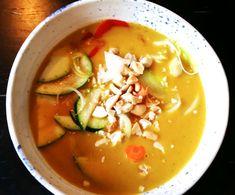 Crockpot – Kokosmjölksoppa med sötpotatis och topping   Lindas mathörna