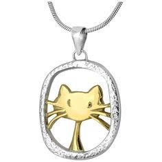 Cute Cat Sterling Necklace : The Animal Rescue Site